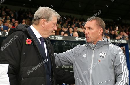 Roy Hodgson manager of Crystal Palace and Brendan Rodgers manager of Leicester City