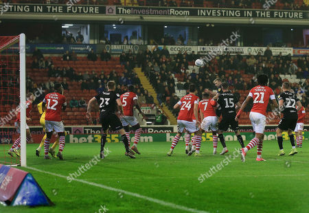 Andreas Weimann of Bristol City scores a goal to make it 0-2
