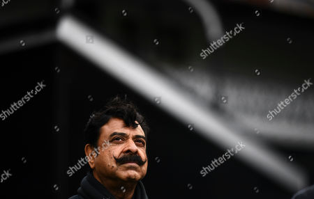 Fulham Chairman and owner Shahid Khan arrives