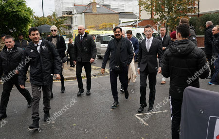 Stock Image of Fulham Chairman and owner Shahid Khan arrives
