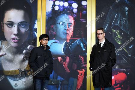 Stock Image of Hideo Kojima and Nicolas Winding Refn