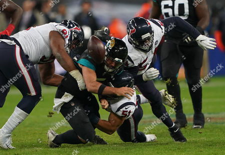 Editorial picture of Houston Texans v Jacksonville Jaguars, NFL, American Football, Wembley Stadium, London, UK - 03 Nov 2019