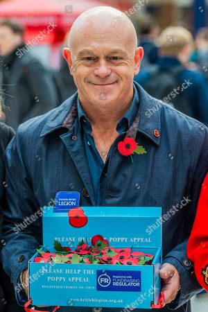 Ross Kemp Launches London Poppy Day 2019 on Liverpool Street Station, central concourse - 2000 service personnel join forces with veterans, volunteers and celebrities in an attempt to raise £1m in a single day for The Royal British Legion during London Poppy Day.