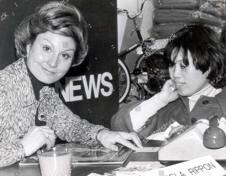 Angela Rippon Television Presenter Signs Copies Of Her Record 'peter And The Wolf' In Oxford Street