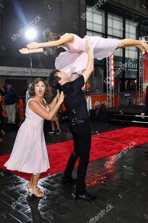 Jenna Bush as Baby Houseman from Dirty Dancing and Willie Geist as Johnny Castle