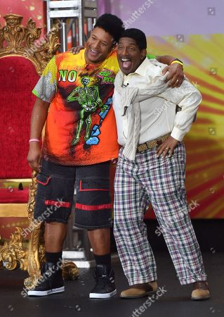 Craig Melvin as Will Smith and Al Roker as Carlton Banks from 'The Fresh Prince of Bel-Air'