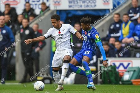 Editorial picture of Wigan Athletic v Swansea City, EFL Sky Bet Championship, Football, DW Stadium, Wigan, UK - 02 Nov 2019