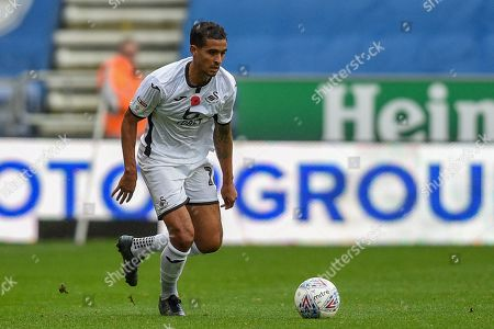 2nd November 2019, DW Stadium, Wigan, England; Sky Bet Championship, Wigan Athletic v Swansea City : Kyle Naughton (26) of Swansea City in action during the game Credit: Richard Long/News Images