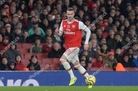 Calum Chambers of Arsenal during the Premier League match between Arsenal and Wolverhampton Wanderers at the Emirates Stadium in London, UK - 2nd November 2019
