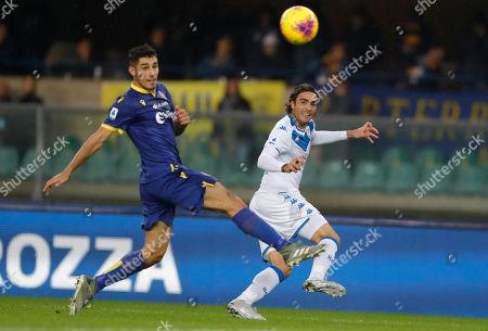 Stock Photo of Brescia's Alessandro Matri crosses the ball.
