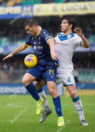 Editorial photo of Hellas Verona v Brescia, Serie A, football match, Stadio Marc'Antonio Bentegodi, Italy - 03 Nov 2019
