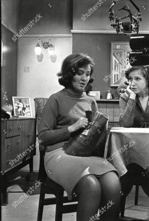 Eileen Mayers (as Sheila Birtles) and Anne Reid (as Valerie Barlow)