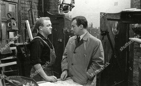 Graham Haberfield (as Jerry Booth) and Geoffrey Matthews (as Neil Crossley)