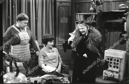 Violet Carson (as Ena Sharples), Ruth Holden as Vera Lomax and Margot Bryant (as Minnie Caldwell)