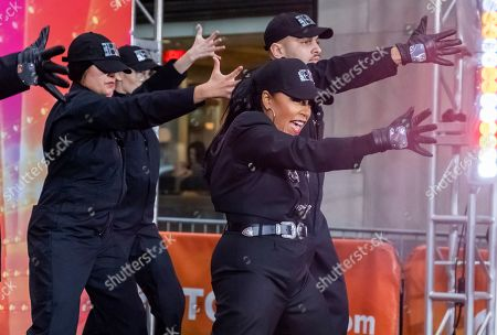 "Stock Picture of Sheinelle Jones dresses Janet Jackson during the ""Today"" show Halloween celebration at Rockefeller Plaza, in New York"