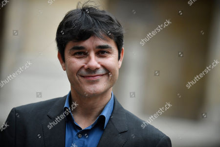 French writer Laurent Binet, the laureate of the French Academy Novel Grand Prize 2019 for his novel 'Civilizations', poses for the photographers at the French Academy in Paris, France, 31 October 2019.