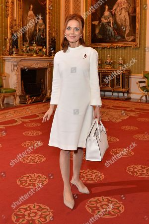 Geri Horner during a reception for winners of the Queen's Commonwealth essay competition 2019 at Buckingham Palace