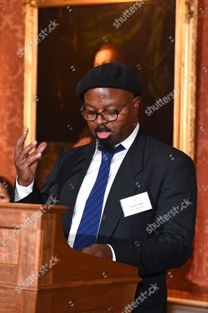 Poet Ben Okri during a reception for winners of the Queen's Commonwealth essay competition 2019 at Buckingham Palace