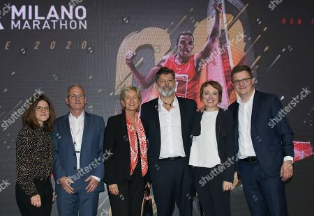 Milan, Torre Generali presentation of the twentieth edition of the Generali Milano Marathon In the photo: Urbano Cairo CEO and President of Cairo Communication, RCS MediaGroup, Torino Calcio and Isabelle Conner Group Chief General Marketing Officer