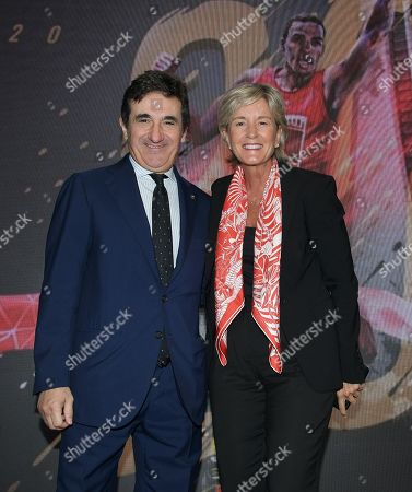 Urbano Cairo CEO and President of Cairo Communication, RCS MediaGroup and Torino Calcio, Isabelle Conner Group Chief General Marketing Officer