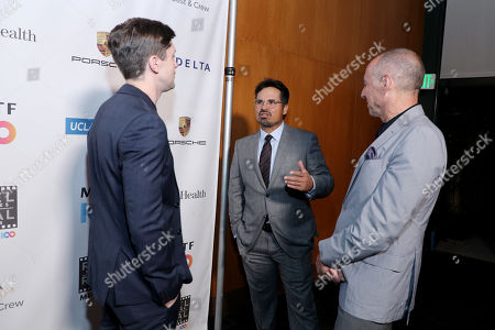 EXCLUSIVE - Topher Grace, Michael Pena and Bob Beitcher