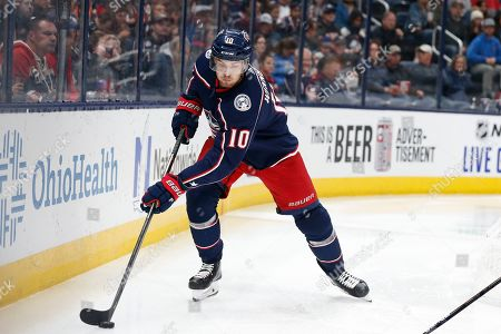 Editorial picture of Oilers Blue Jackets Hockey, Columbus, USA - 30 Oct 2019