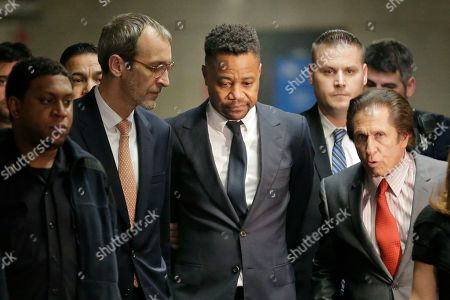 Stock Picture of Cuba Gooding Jr. arrives to court with his attorney Mark J. Heller, right, in New York, . Gooding Jr. has pleaded not guilty to an indictment that includes allegations from a new accuser in his New York City sexual misconduct case. Prosecutors at Thursday's arraignment said they've also heard from several more women who could testify that the 51-year-old actor has had a habit of groping women over the years. Gooding's criminal case now includes allegations from three women