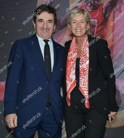 Stock Picture of Urbano Cairo CEO and President Cairo Communication and Isabelle Conner, Group Chief General Marketing Officer