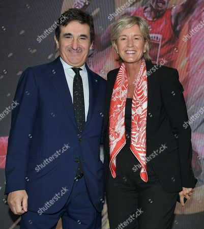 Urbano Cairo CEO and President Cairo Communication and Isabelle Conner, Group Chief General Marketing Officer