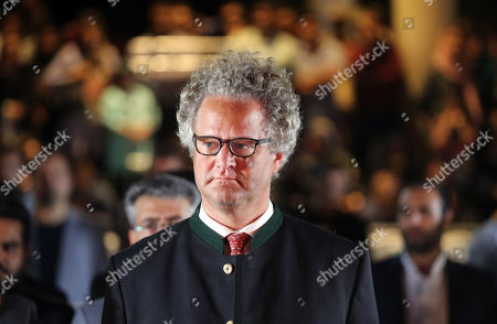 Germany filmmaker Florian Henckel von Donnersmarck at the Hafezieh (The Tomb of Hafez) during a ceremony celebrating German Culture Week in Shiraz, southern Iran, 31 October 2019, on the occasion of on the anniversary of the publication of German writer Johann Wolfgang von Goethe's poetry book 'West-Eastern Divan' 200 years ago.
