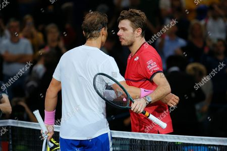 Rafael Nadal celebrates victory over Stan Wawrinka