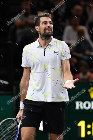 Stock Photo of Jeremy Chardy (FRA) during his match