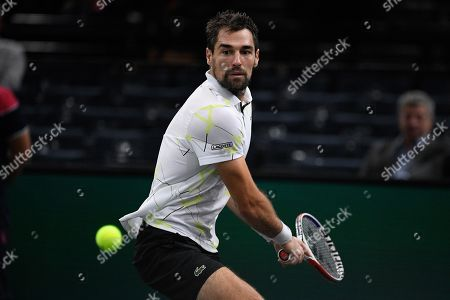 Stock Picture of Jeremy Chardy (FRA) during his match