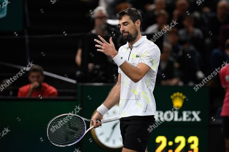 Stock Image of Jeremy Chardy (FRA) during his match