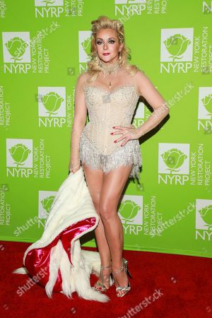 Jane Krakowski attends Bette Midler's annual Hulaween party to benefit the New York Restoration Project at New York Hilton Midtown, in New York