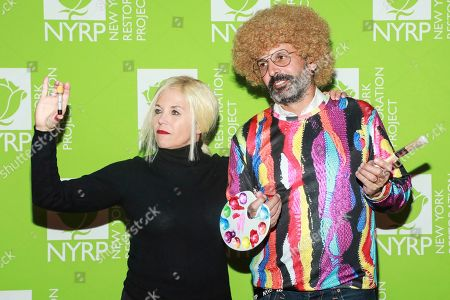Katie Couric, John Molner attends Bette Midler's annual Hulaween party to benefit the New York Restoration Project at New York Hilton Midtown, in New York
