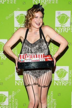 Sophie von Haselberg attends Bette Midler's annual Hulaween party to benefit the New York Restoration Project at New York Hilton Midtown, in New York