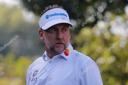 Ian Poulter of Britian in action during the second round of the HSBC World Golf Championships at the Sheshan International Golf Club in Shanghai, China, 01 November 2019.