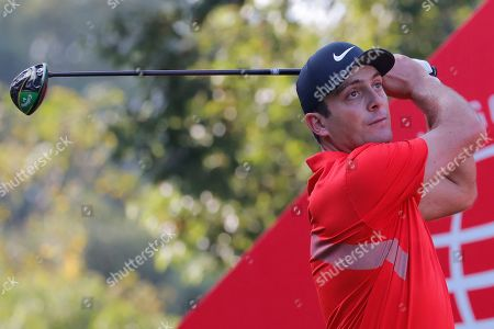 Francesco Molinari of Italy in action during the second round of the HSBC World Golf Championships at the Sheshan International Golf Club in Shanghai, China, 01 November 2019.