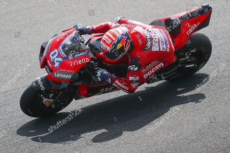 Italian MotoGP rider Andrea Dovizioso of Ducati Team in action during the free practice of the Motorcycle Grand Prix of Malaysia 2019 at Sepang International Circuit, Selangor, Malaysia, 01 November 2019. The 2019 Malaysia Motorcycling Grand Prix will take place on 03 November 2019.