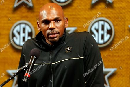 Vanderbilt head coach Jerry Stackhouse speaks during the Southeastern Conference NCAA college basketball media day in Birmingham, Ala. Juwan Howard took over his former team when he replaced John Beilein at Michigan, and Stackhouse was hired to be the new coach at Vanderbilt. Both of them starred as players in the early-to-mid 1990s and went on to lengthy NBA careers