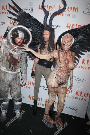 Tom Kaulitz, Bill Kaulitz and Heidi Klum