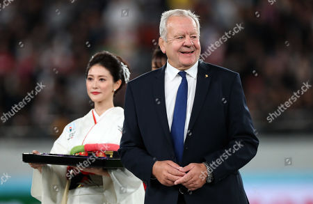 New Zealand vs Wales. Chairman of World Rugby, Bill Beaumont