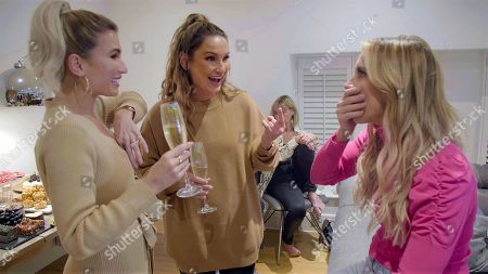 Stock Image of Ferne McCann with Billie Faiers and Sam Faiers.