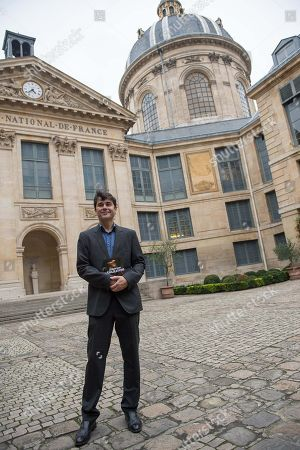 Editorial image of Laurent Binet receives French Academy Literary Prize, Paris, France - 31 Oct 2019