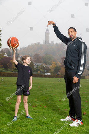 Kieron Achara with from Wallace High School pupil Henry Crossley