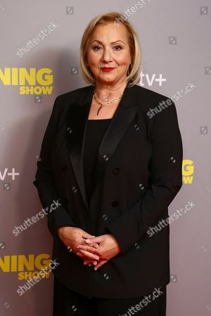Mimi Leder poses for photographers upon arrival at the photo call of 'The Morning Show' at a central London hotel