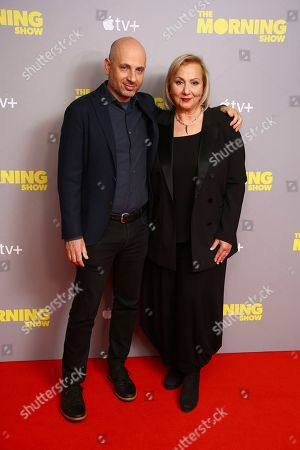 Mimi Leder, Michael Ellenberg. Director Mimi Leder and producer Michael Ellenberg pose for photographers upon arrival at the photo call of 'The Morning Show' at a central London hotel