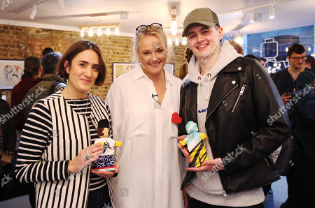 LEGO Originals have collaborated with designers Kelly Anna and Tom Harrison to bring their own versions to life, pictured with LEGO Originals Design Director Sine Klitgaard Moller