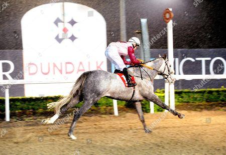 Dundalk CRAFTY HUGO & DYlan Brown McMonagle win the Irish Injured Jockeys Handicap.